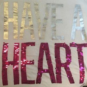 ❣️PINK Victoria's Secret HAVE A HEART sequin tee